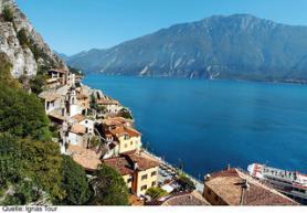 Italský hotel Garda Bellevue a jezero Lado di Garda