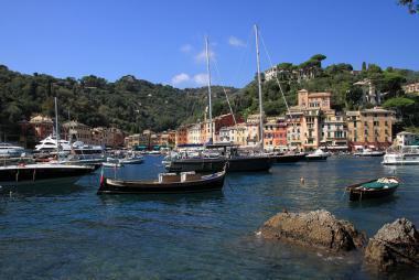 Přístav v městečku Portofino, Itálie