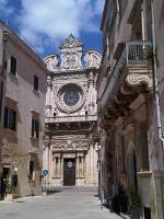 Poloostrov Salento a kostel Santa Croce